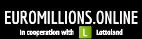 Euromillions.online Seite mit Lottoland Logo