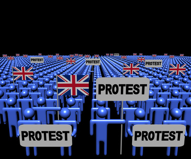 British Protesters