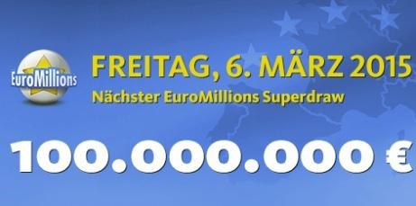 Superziehung bei den EuroMillions