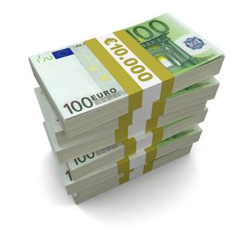 En bunt euros